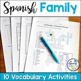 La Familia (The Family) Spanish Vocabulary Activities