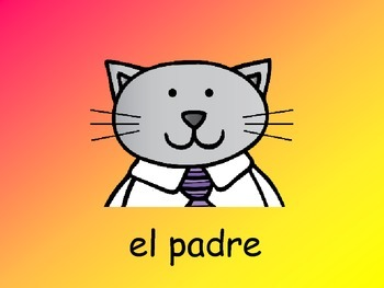 La Familia- The Family in Spanish - Vocabulary Slideshow