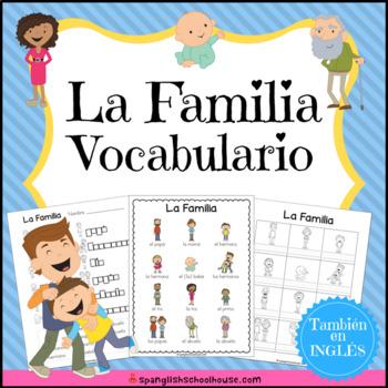 La Familia Vocabulario {Family Vocabulary Pack in Spanish}