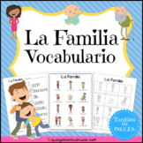 La Familia Vocabulario {Family Vocabulary Pack in Spanish}