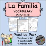 La Familia Vocabulary Practice Worksheets (Así Se Dice Level 1, Chapter 2)