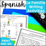 La Familia de Superheroes Spanish Family Vocabulary Writing Activities