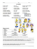 "La Familia de los Simpson / Spanish Family Activity ""The S"