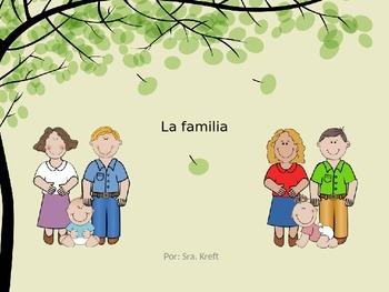 La Familia: vocabulario, apuntes