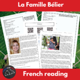 La Famille Bélier - supplemental activities to accompany t