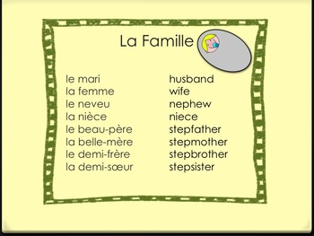 Famille - French Family Package