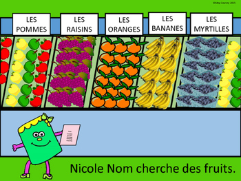 Le Supermarché- Food Vocabulary Reader and Activities