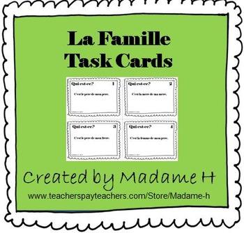 La Famille Task Cards