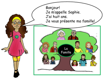 La Famille Vocab Slideshow/Reader/Activities/Worksheet-French Family Vocab