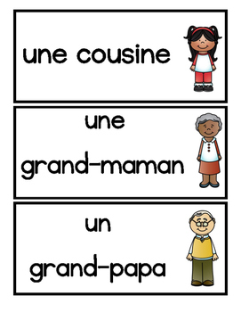 La Famille Word Wall Cards