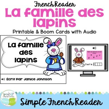La Famille des Lapins ~ French Family reader for Spring /
