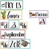 La Fecha: Latin-themed Calendar Set in Spanish