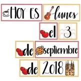 La Fecha: Spain-themed Calendar Set in Spanish