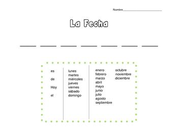 La Fecha (The Date in Spanish)