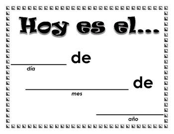 La Fecha/The Date Poster (Spanish)
