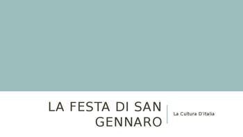 La Festa di San Gennaro