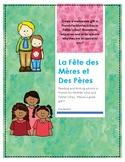 La Fête des Mères et des Pères - Ontario French writing activity and gift