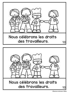 La Fête du Travail {en français} French Labor Day Reader & Cut/Paste