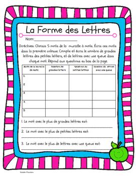 La Forme Des Lettres