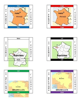 La Francophonie Grouping Cards for desks (MS Word version)