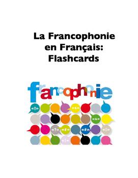 La Francophonie in French (Flashcards)