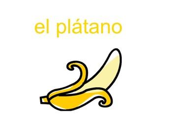La Fruta -- Spanish Fruit Vocabulary