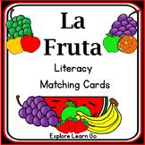 La Fruta Spanish Literacy Matching Cards / Montessori Style / Hands-on