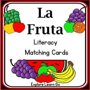 La Fruta Spanish Literacy Matching Cards / Montessori Styl