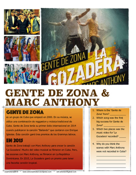 La Gozadera por Gente de Zona ft Marc Anthony