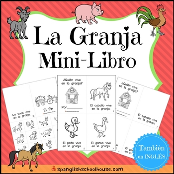 La Granja Mini-Libro (Farm Mini-Book in Spanish)