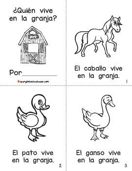 La Granja Mini-Libro (Farm Mini-Book in Spanish)