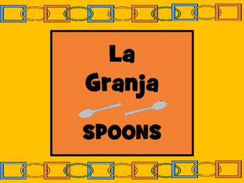 La Granja Spoons Card Game – Farm Animals Vocabulary in Spanish