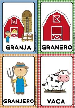 La Granja -Tarjetas de vocabulario-