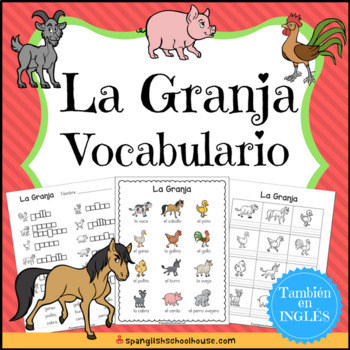 La Granja Vocabulario {Farm Vocabulary Pack in Spanish}