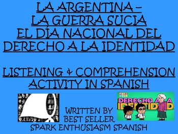 La Guerra Sucia Listening and Comprehension Activity in Spanish