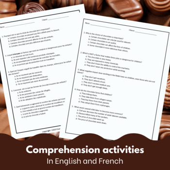 La Guerre du Chocolat - reading for intermediate/advanced French learners