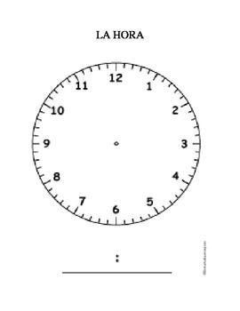 La HORA / The time (telling time) VOCAB
