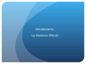 La Historia Oficial Vocabulario Powerpoint