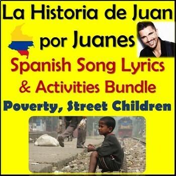 La Historia de Juan by Juanes - Spanish Song Lyrics & Activities Unit