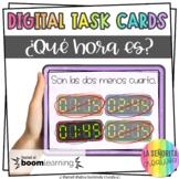La Hora Digital Task Cards in Spanish | Time | BOOM Cards