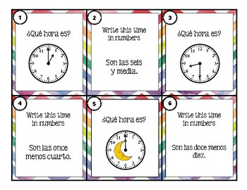 La Hora - Task Cards