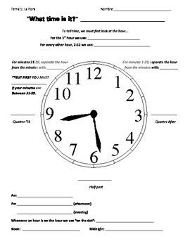 La Hora/Time Notes