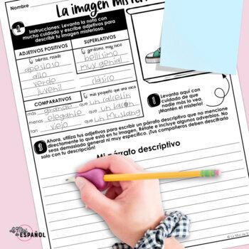 Actividad Lenguaje Descriptivo Adjetivos Spanish Adjectives Descriptive Writing