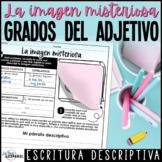 Actividad Escritura Adjetivos | Spanish Adjectives Descrip