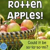 La Interactive Melody Game and Manipulatives {Rotten Apples!}