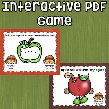 La Interactive Melody Game and Manipulatives {Rotten Apples! So-Mi-La-So-Mi}