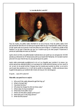 La Journée du Roi Louis XIV / Daily Routine of King Louis XIV / French history