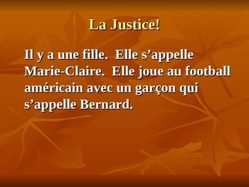 La Justice!  A TPR mini-story
