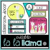 La La Llama EDITABLE Classroom Decor BRIGHT Set