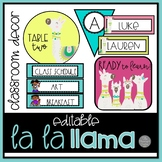 La La Llama EDITABLE Classroom Decor BRIGHT Set